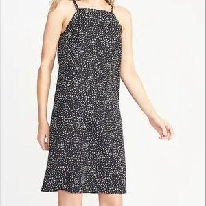 Linen-Blend Square-Neck Shift Dress. SP. NEW!